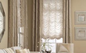 Окна в английском стиле с французскими шторами