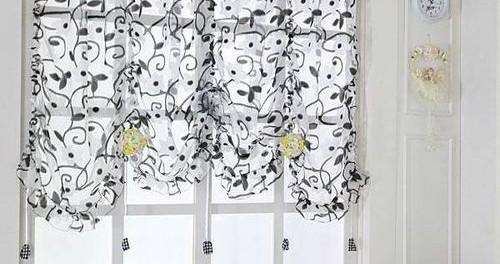 Черно-белые шторы в интерьере - фото в спальне, гостиной, кухни, детской