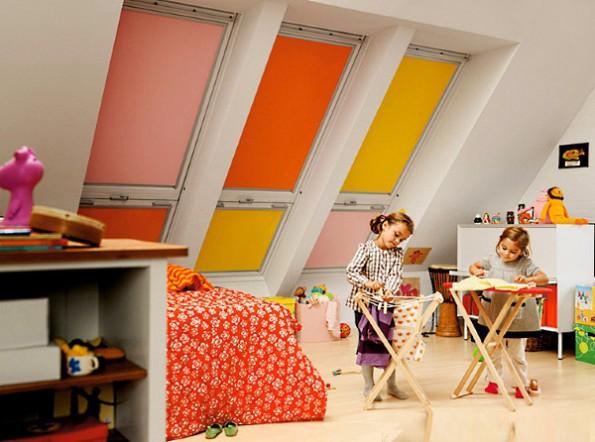 Кассетные шторы в интерьере детской