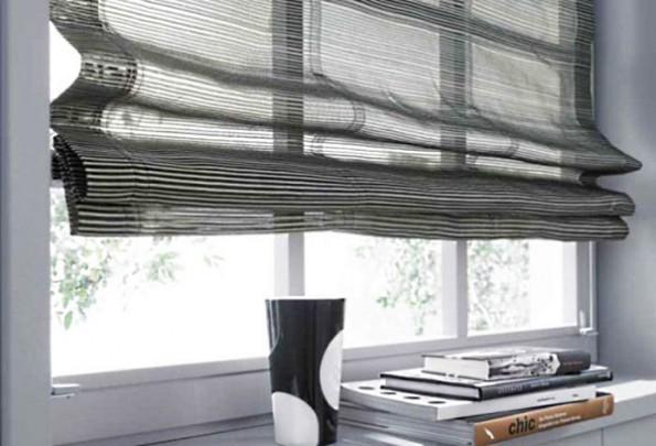 Как крепятся римские шторы на окно