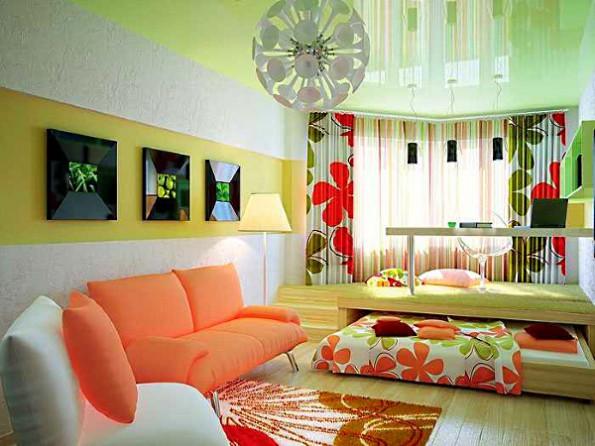 Советы по зонированию комнаты шторами