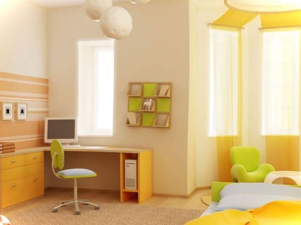 Желтые шторы в интерьере спальни, кухни, гостиной, детской
