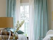 Воздушно белые льняные занавески (на фото комбинация из 2-х цветов)