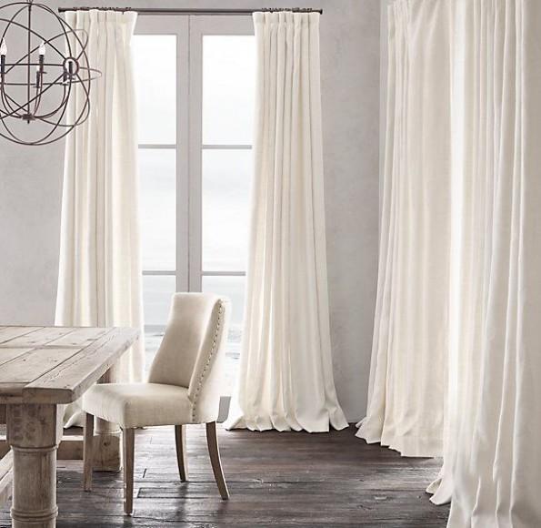 Воздушные льняные шторы