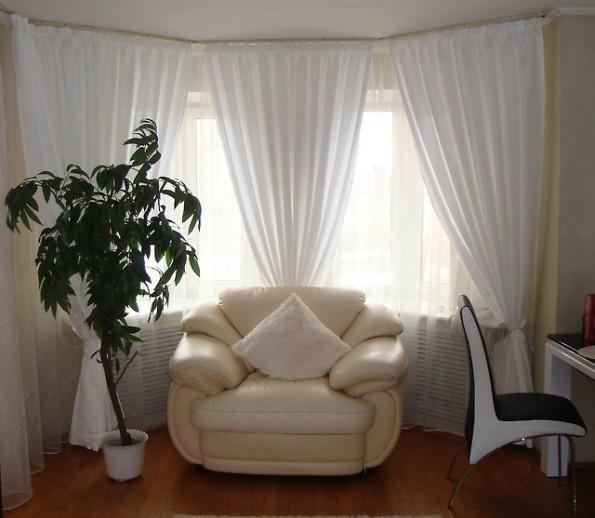 Готовые шторы в интерьере кухни, спальни, гостиной