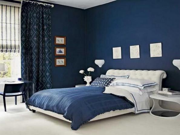 Голубые шторы в интерьере спальни, кухни, гостиной, детской