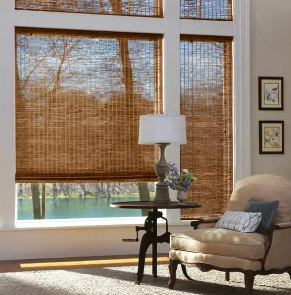 Бамбуковые шторы в интерьере