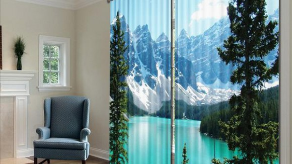 Современный дизайн: шторы 3д
