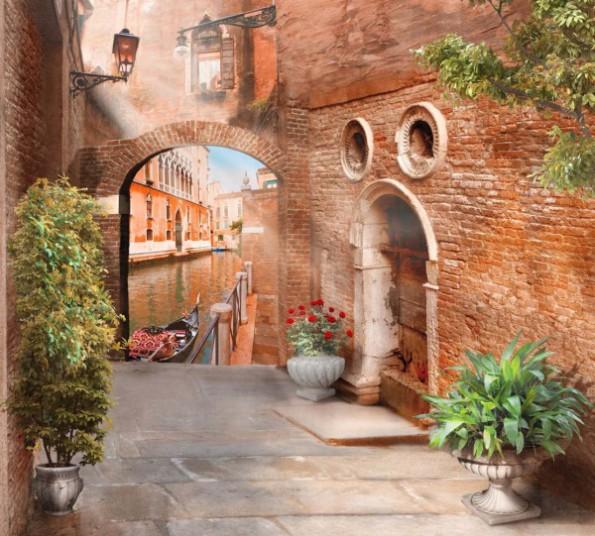"""Фото шторы """"Венецианская улочка"""""""