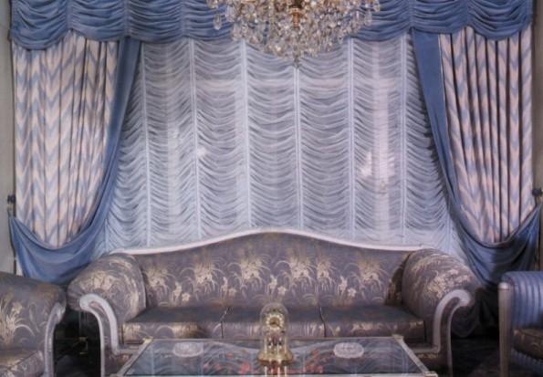 Французские шторы в интерьере