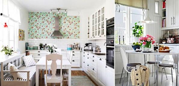 Короткие шторы на кухню в интерьере