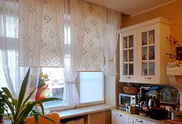 Как сшить занавески на кухню